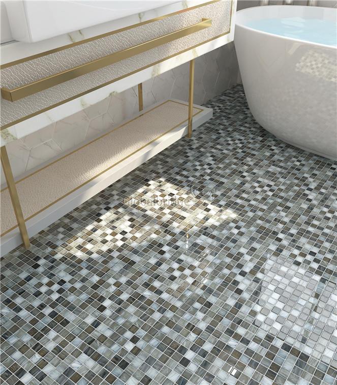 Mosaic Tile For Bathroom Floor Image