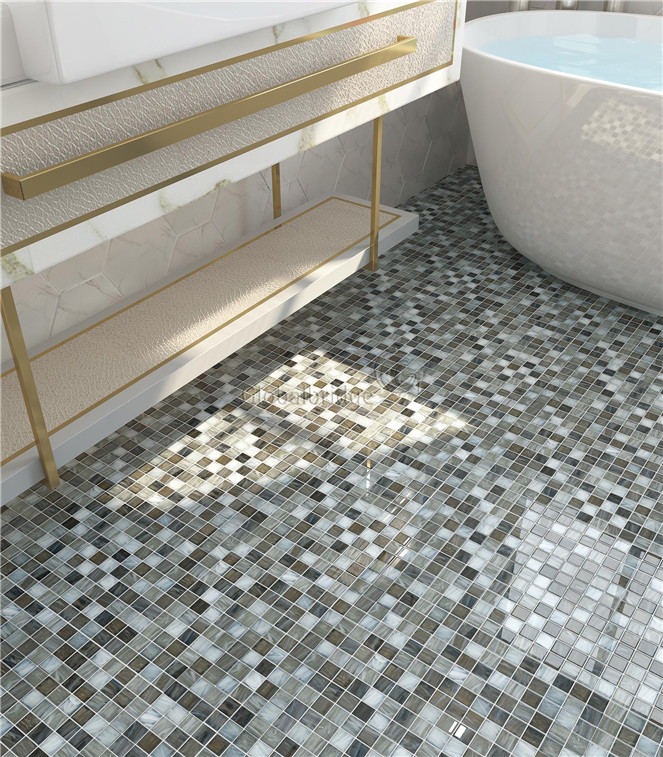 Mosaic Tile For Bathroom Floor Image